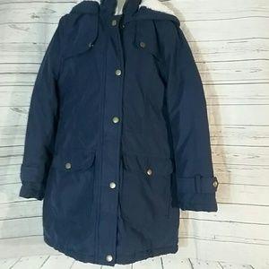 ROTHSCHILD  Blue Hooded coat Girls Size S 7/8